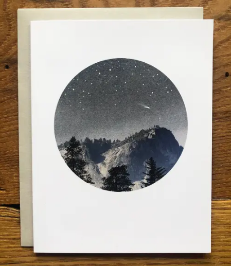 Watercolor Card • Yosemite Night