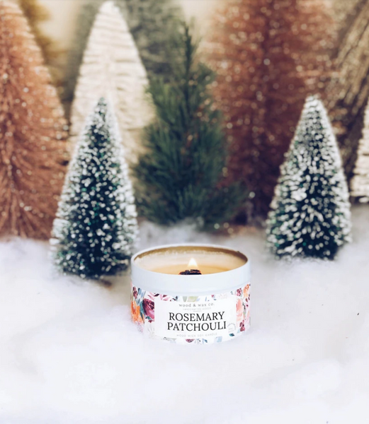 Rosemary + Patchouli Candle Tin
