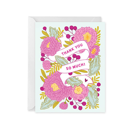 Thank You Card • Floral Banner