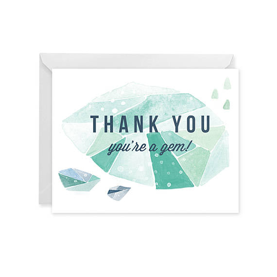 Thank You Card • Gem