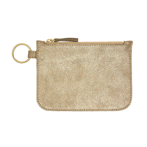 Small Gold Zipper Pouch