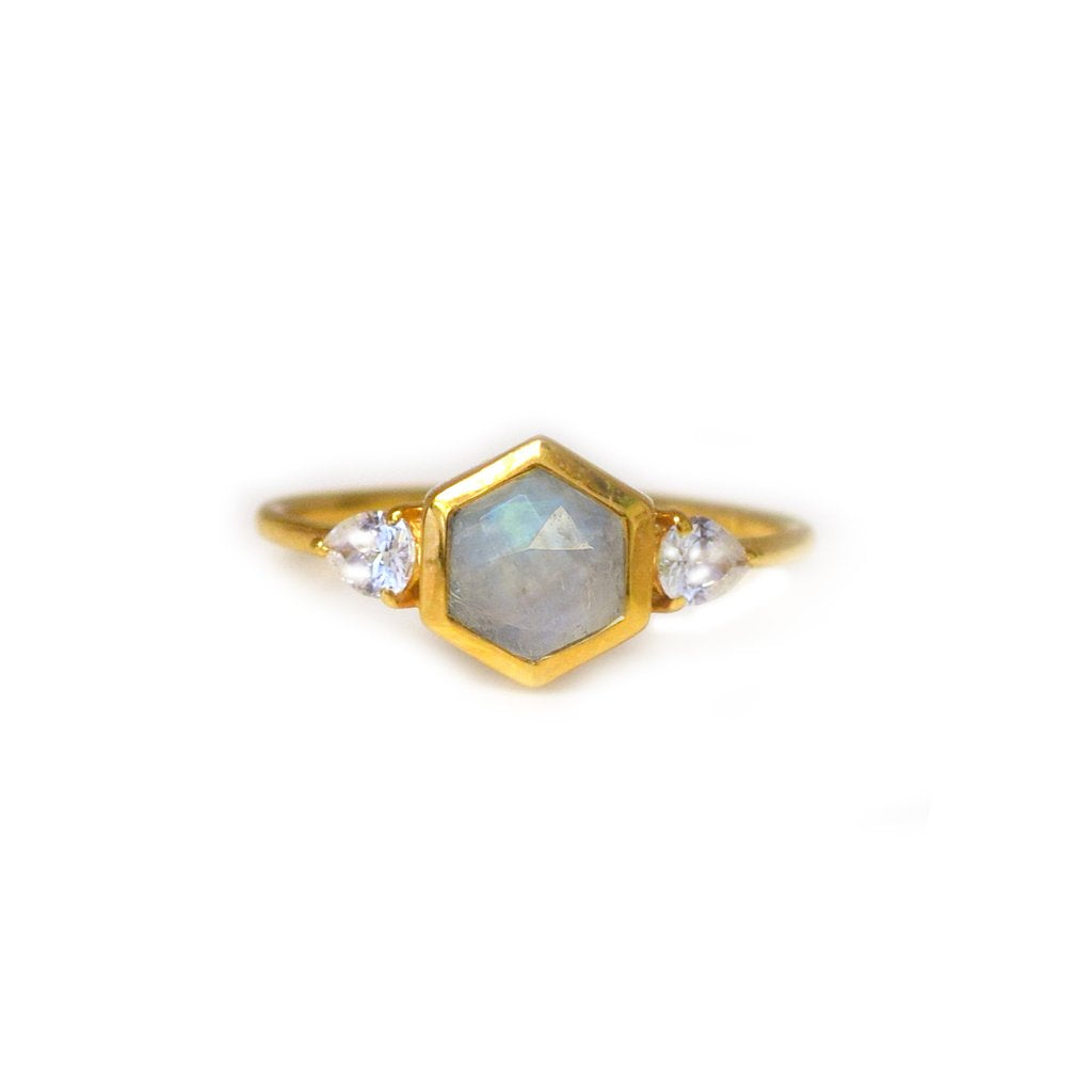 Vivant Ring • Moonstone & Topaz