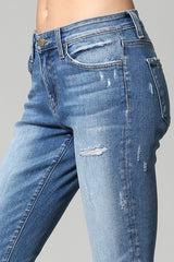 Barely Distressed Ankle Jean