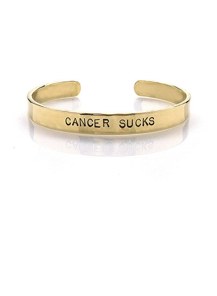 """Cancer Sucks"" Cuff"