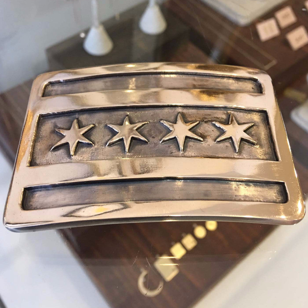 Chicago Flag Belt Buckle