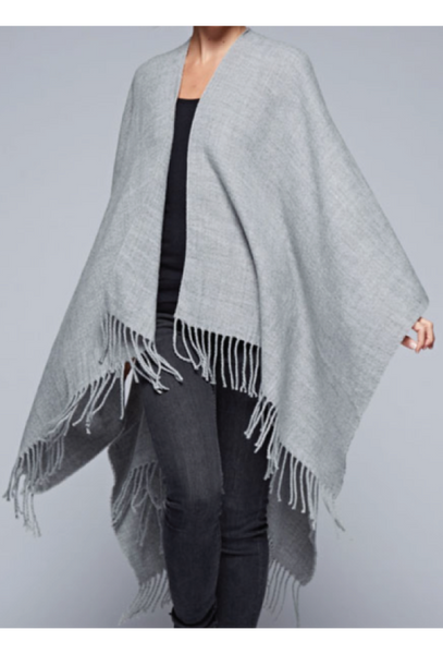 Brushed Twill Blanket Poncho