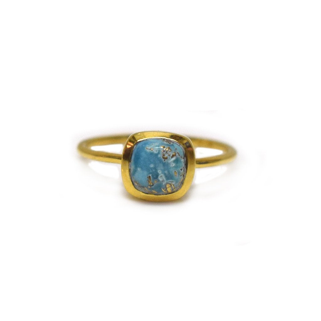 Mini Eclipse Ring • Copper Turquoise