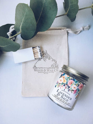 Wood & Wax Co. Lavender & Sage Candle