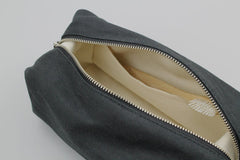 Waxed Canvas Travel Dopp Kit - Black