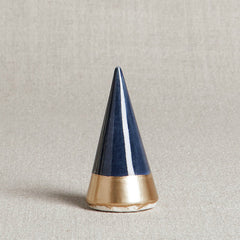 Navy + Gold Minimalist Ring Holder