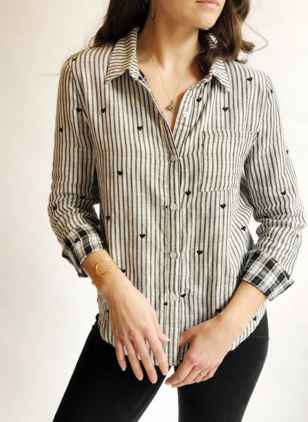 Striped Heart Blouse