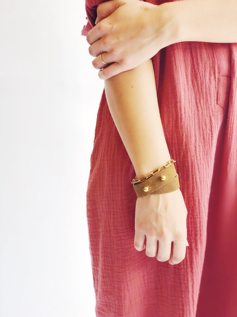 Double Wrap Leather Cuff