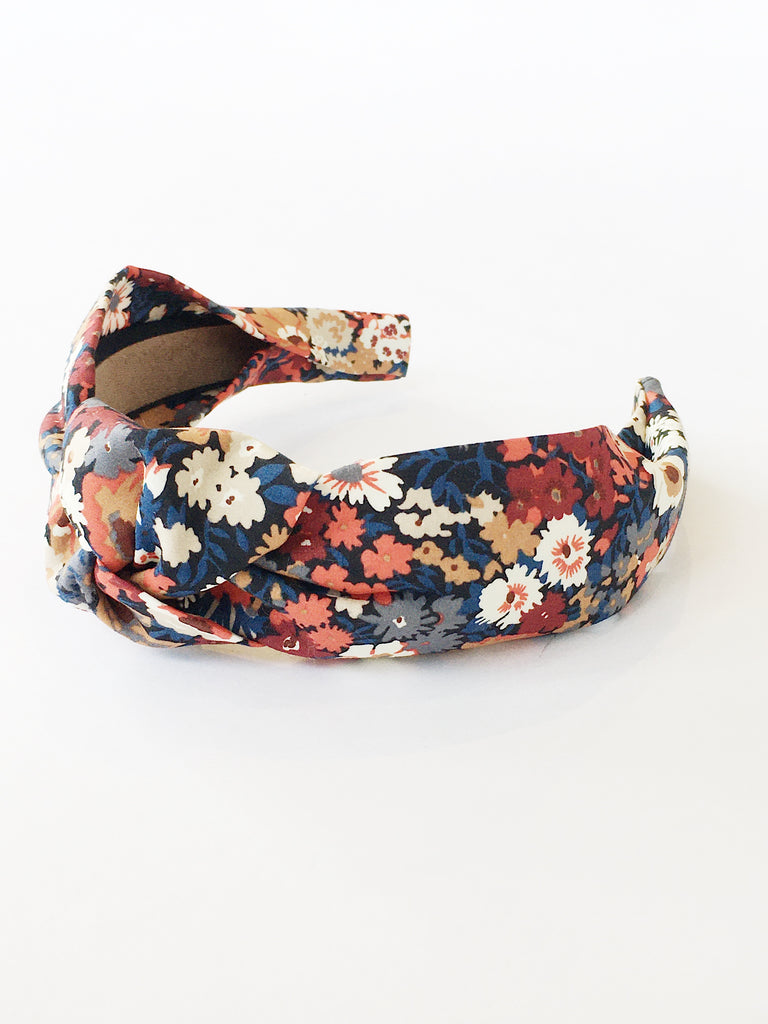 Handmade Navy Liberty Headband