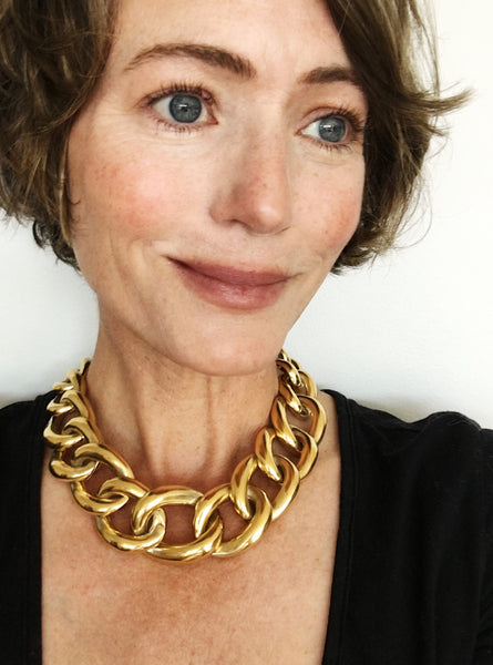 Vintage Givenchy Chunky Gold Link Choker