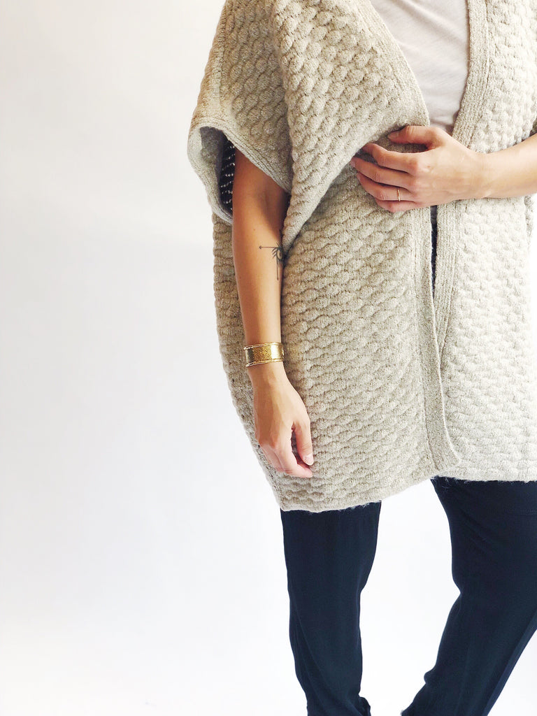 Knit Cocoon Sweater Cardigan