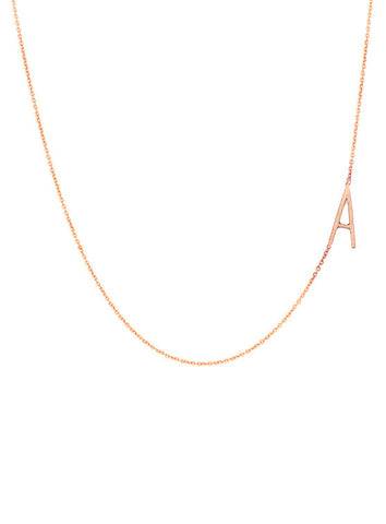 Offset Letterform Necklace