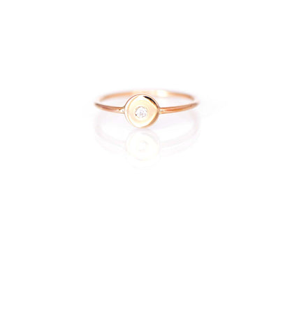 6mm Birthstone Inset Ring