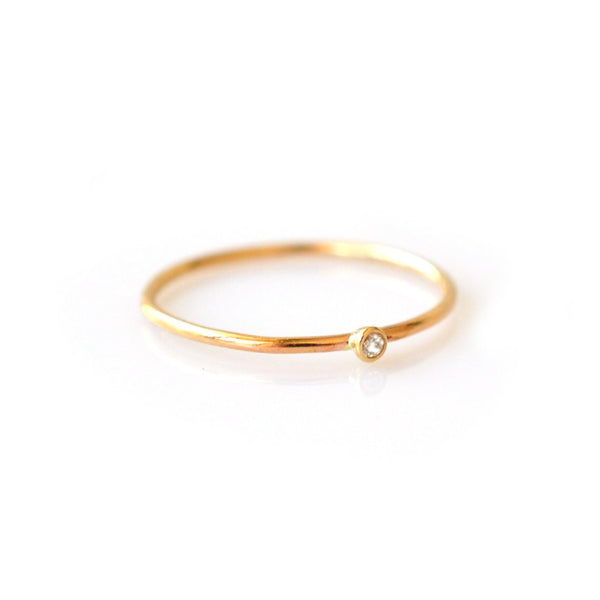 14k Solo Ring • Diamond