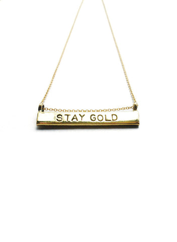 """Stay Gold"" Necklace"
