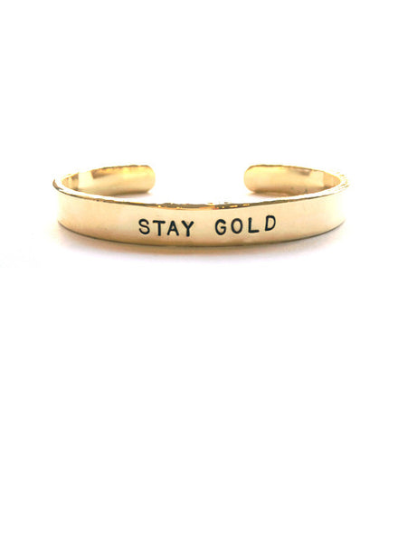 """Stay Gold"" Hammered Cuff"