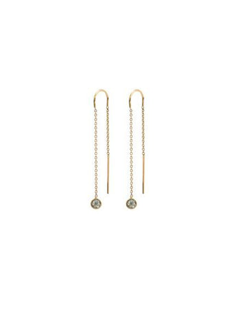 14k 3mm Stone Threaders