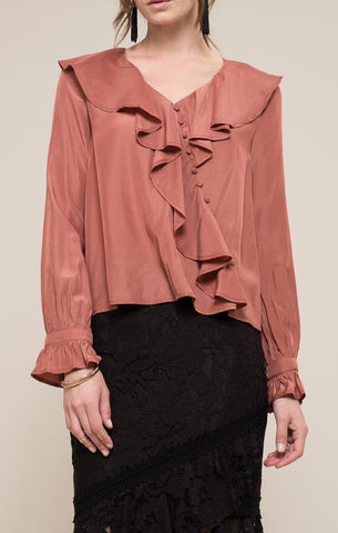 Twisted Ruffle Blouse