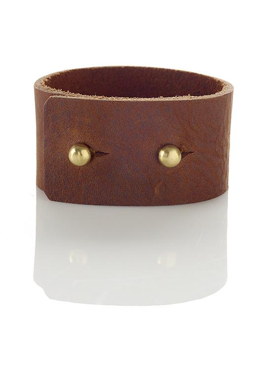 Two Button Leather Cuff