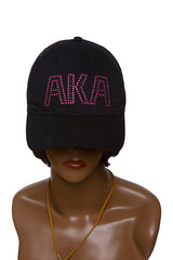 AKA Black Hat with Bling Letters