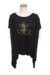 AKA Bling Tunic With Crest - Black