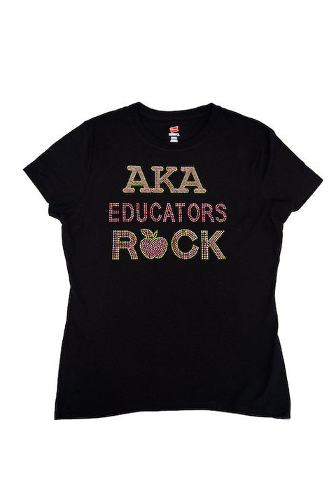 AKA Educator Bling T-shirt
