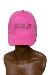 AKA Pink Hat with Bling words