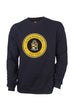 Alpha Phi Alpha Black Crewneck Sweatshirt with Round Chenille