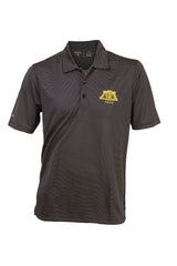 Alpha Black and Old Gold Stripe Polo shirt - High Quality Antigua Dri-Fit shirt