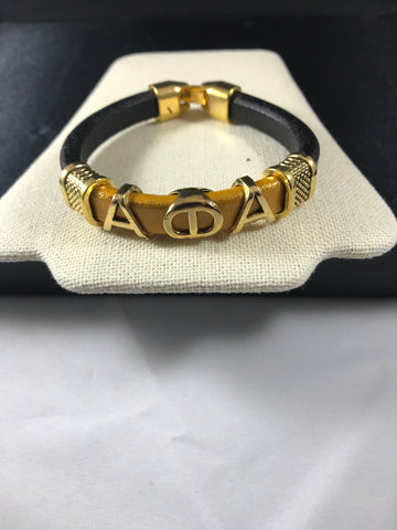 Alpha Leather Bracelets