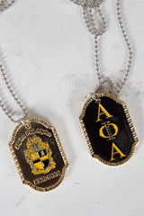 Alpha Gold plated double sided dog tag
