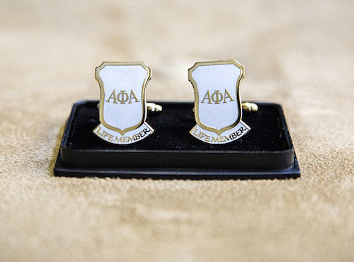 Life Member White Cuff Links