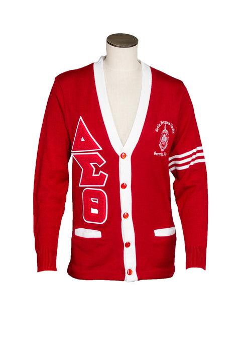 Delta Sigma Theta Old School Cardigan With Old School Chenille Letters