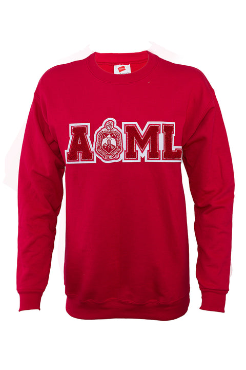 Delta All of My Love Sweatshirts with Old School chenille design