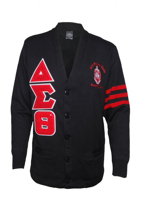 Delta Sigma Theta Black Classic Varsity Old School Sweater