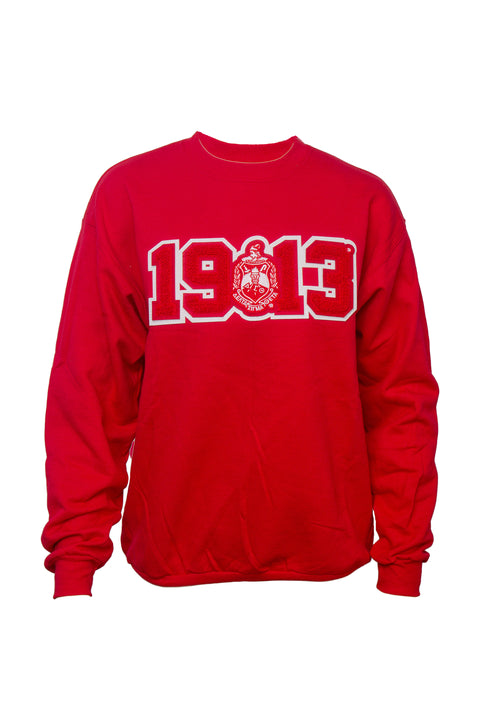 Delta Sigma Theta Sweatshirt with 1913 Chenille Patch