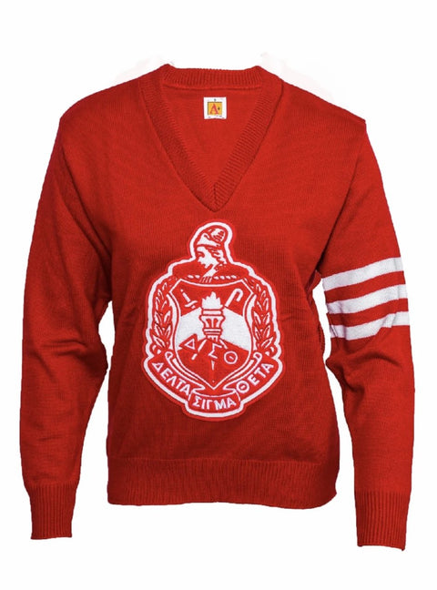 Delta Sigma Theta Old School Red/White Cardigan