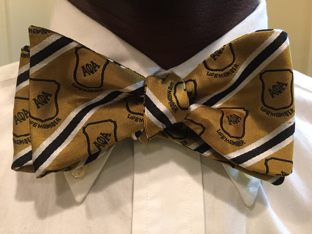 Old Gold Life Member Bow Tie