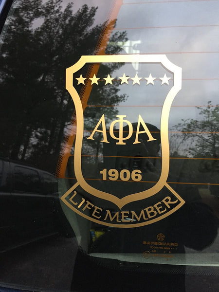 Alpha Phi Alpha Life Member Window Decal