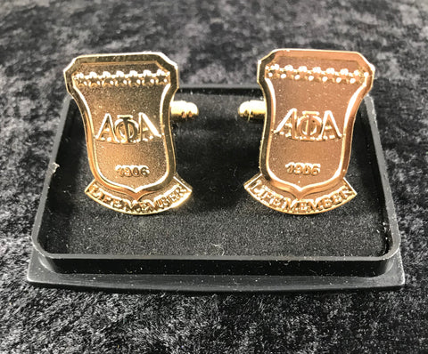 Alpha Life Member Gold Plated Cufflinks