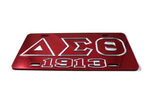 Delta Mirror Tag - Red