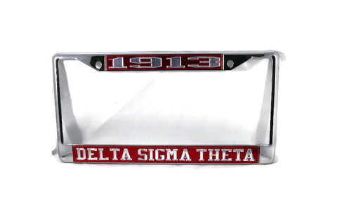 Delta Sigma Theta License Frames - 1913 Red