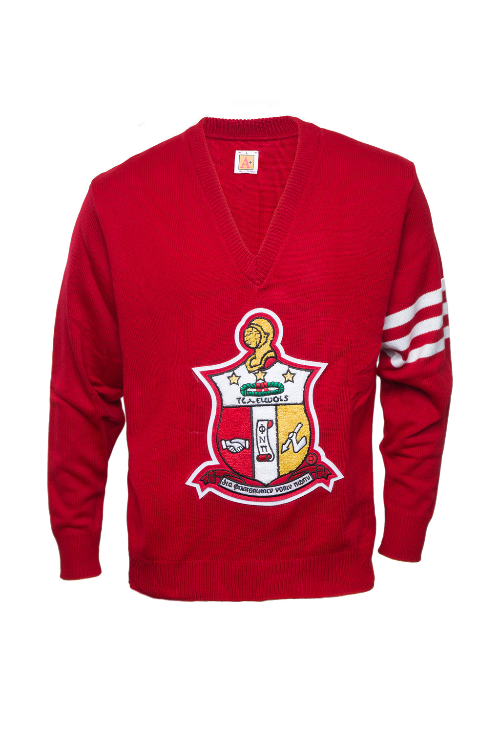 Old School Kappa Vneck Sweater with Chenille Crest