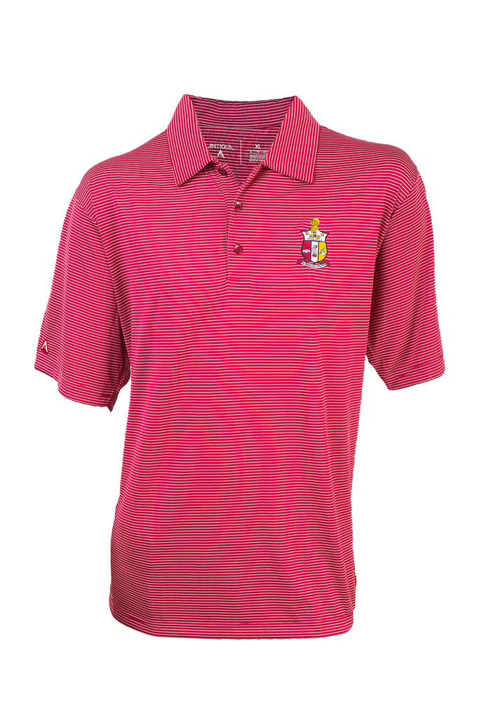 Kappa Red and White Stripe Polo