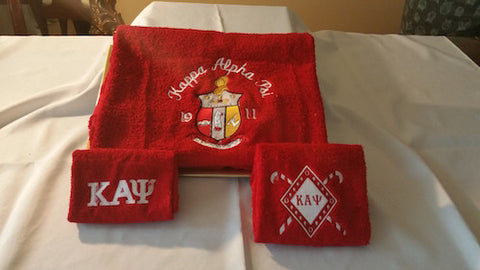 Kappa Alpha Psi Towel Set