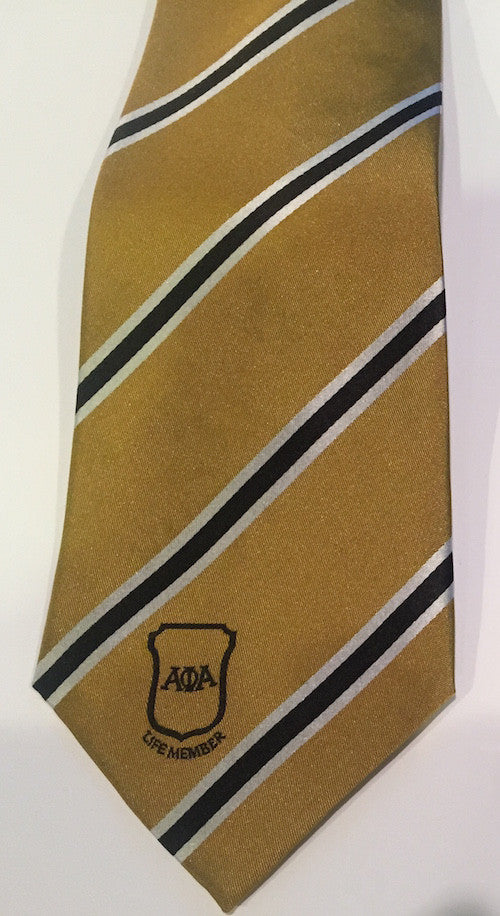 Old Gold Life Member Tie